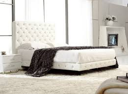post modern real genuine leather bed soft bed double bed king