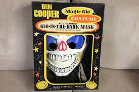 vintage ben cooper boney skeleton halloween costume glow in the
