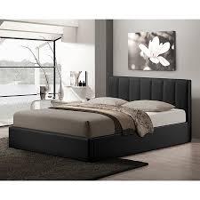 Baxton Studio Platform Bed Shop Baxton Studio Templemore Black Queen Platform Bed With