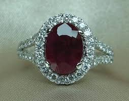 ruby and engagement rings ruby and ring