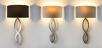 african home decor stylish wall light with fabric shade lights ebay astro caserta 60w