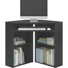 mainstays corner desk black u2013 walmart with regard to mainstay