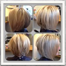 love my new hair blonde highlighted inverted graduated bob