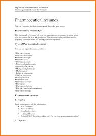 Pharmaceutical Resume 10 Pharmacy Resume Objective Address Example