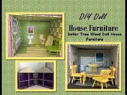 Vintage Barbie Dream House Youtube by Diy Dollar Tree Wood Doll House Furniture Youtube Kelly U0027s