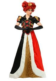 images of plus size red queen halloween costume ace of clubs card