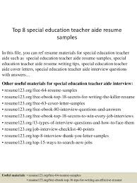 special education teacher aide cover letter