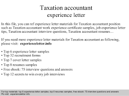 Sample Resume For Tax Accountant by Taxation Accountant Experience Letter 1 638 Jpg Cb U003d1408679421