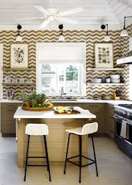 charming with open shelving and trendy display kitchen islands