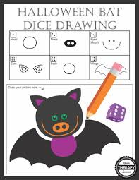 halloween bat dice drawing your therapy source