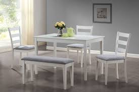 Dining Room Table Sets For Small Spaces Beautiful White Dining Table Sets 5 With A Bench And 3 Side