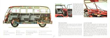 volkswagen bus drawing 1958 vw bus brochure pages 12 u0026 13 vw bus literature pinterest