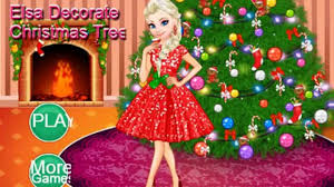 elsa decorate christmas tree game super game for childrens fun