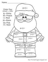 christmas math color number activities perfect
