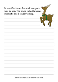 christmas creative writing sheets suggestions for writing a
