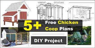 5 free chicken coop plans construct101
