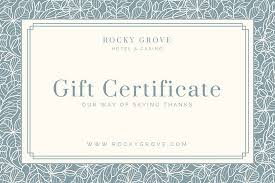 hotel gift certificates blue patterned hotel gift certificate templates by canva
