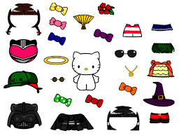 cute kitty paper doll template free download