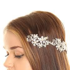 claires hair accessories flower decorative hair swag hair white prom hair