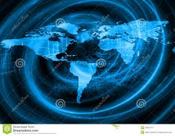 Sattelite World Map by World Map On A Technological Background Glowing Lines Symbols Of