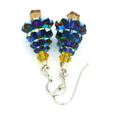 swarovski tree earrings medium vitrail jewelry