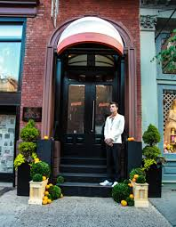 Custom Awning The Broome Hotel Entrance Was Reimagined With Topiaries And Orange