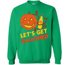 halloween drinking beer shirt let u0027s get smashed pumpkin u2013 trend shirt
