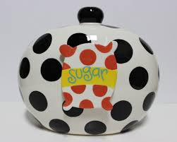 happy everything cookie jar coton colors black dot happy everything big cookie jar