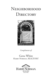 2016 neighborhood directory by harry norman buckhead nw office