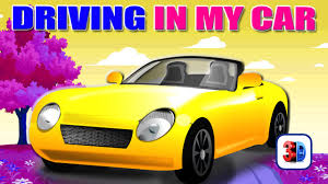 cartoon convertible car driving in my car song with lyrics top english nursery rhymes