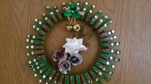 christmas wreath using tissue paper roll crazy craft ideas youtube