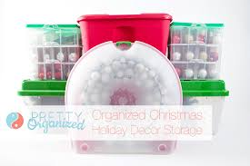 Christmas Ornament Storage Solutions by Organized Holiday Christmas Decorating Ideas For Small Spaces