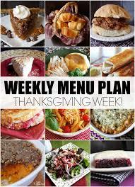menu plan november week 3 thanksgiving leftover ideas