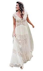 boho wedding dresses ellenhouse women s v neck boho wedding dresses bohemian lace