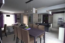 cuisine salle à manger salon cuisine salon salle a manger ouverte stupefiant deco maison 1 photo