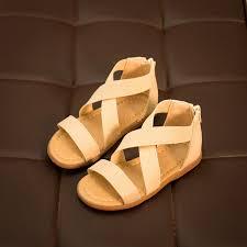 2016 summer waterproof outdoor children sandals girls soft leather