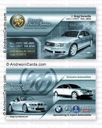 Sales Business Card Card Design Sample Steve U0027s Auto Sales