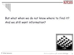 Where To Seeking Information Seeking