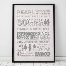 30th anniversary gifts for parents 30th wedding pearl anniversary gifts notonthehighstreet
