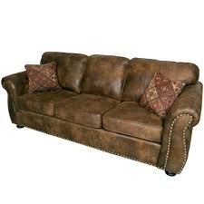 Leather Suede Sofa Porter Elk River Brown Microfiber Faux Suede Leather Sofa With 2