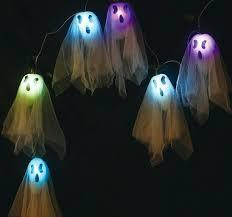 halloween ghost string lights spooky light up decor halloween ghost string lights