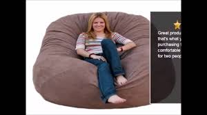 Lovesac Vs Ultimate Sack Cozy Sack 6 Feet Bean Bag Chair Large Chocolate Review Youtube