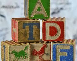 antique alphabet etsy