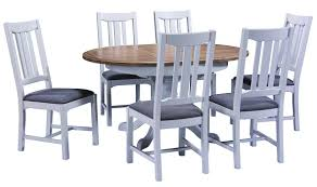 devon round extending table with four chairs package deals