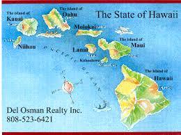 map of hawaii island hawaii state map