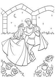 princess aurora prince coloring cute pages