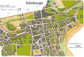 Edinburgh Map Edinburgh City Race January 30th 2010 Orienteering Map From