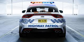 cars kia stinger a strong candidate for nsw and qld police force