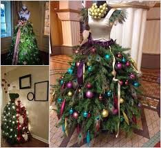 christmas tree dress wow these christmas trees are made with mannequins