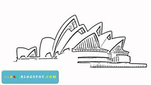 how to draw sydney opera house youtube